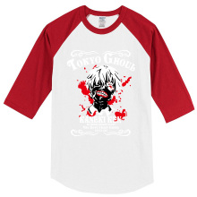 Anime Tokyo Ghoul fashion men's T shirts hip hop clothing top raglan tees