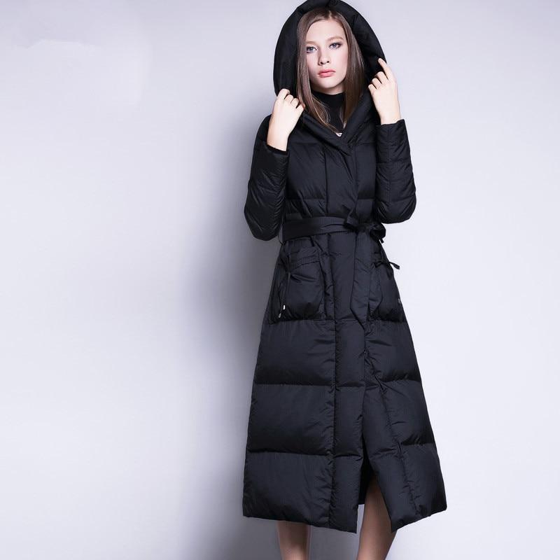 AYUNSUE Winter Jacket Women White Duck Down Coat Female Jackets Long Parka Ladies Outerwear Hooded manteau femme hiver WYQ821