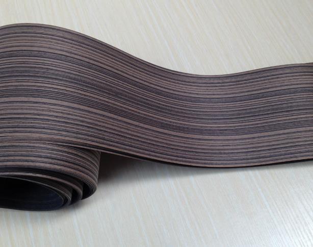 Length: 2.5 meters  thickness:0.25mm  Width: 15cm Black Zebra  furniture wood veneer door speaker wood veneer Edge