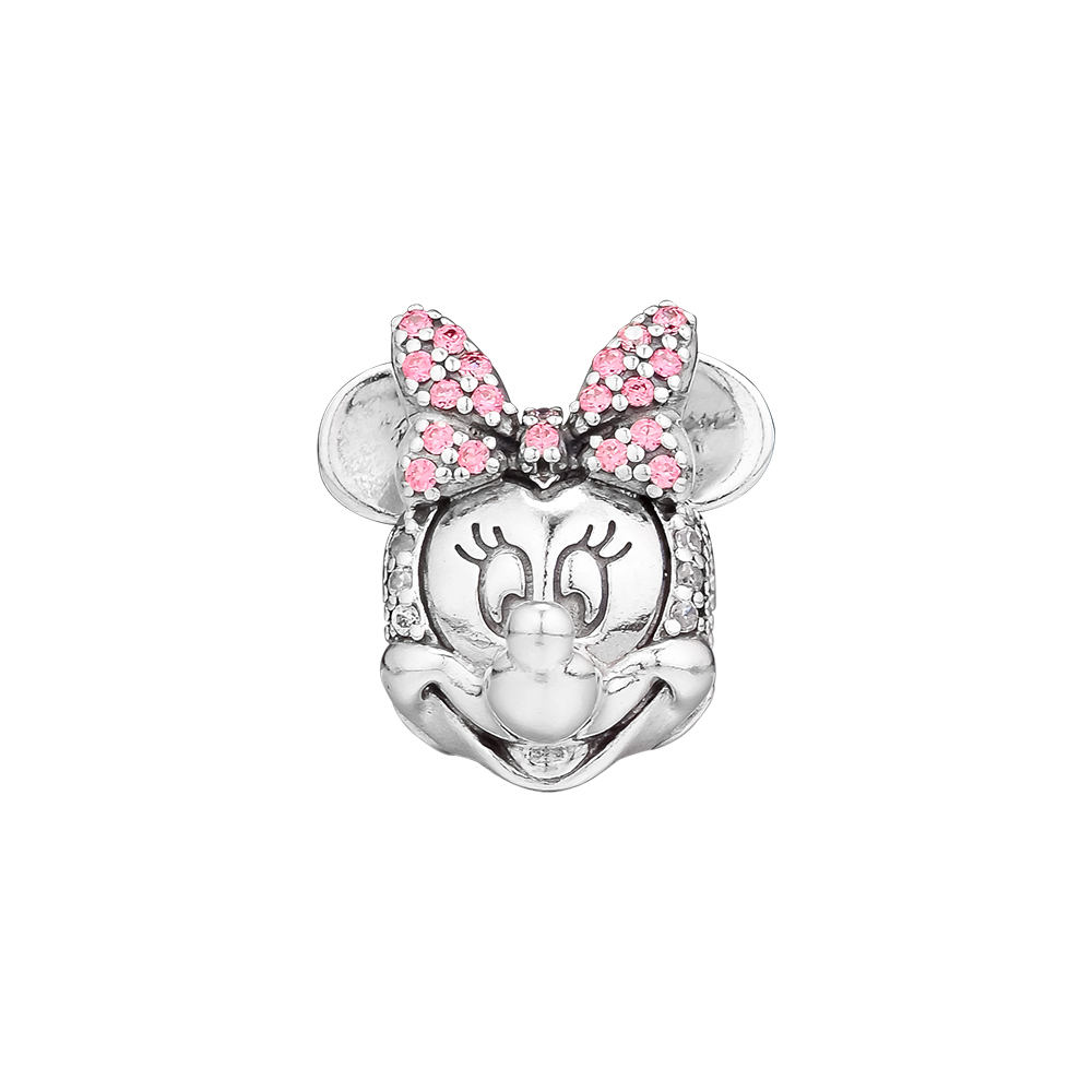 Fits for Pandora Charms Bracelets Beaded Mouse Shimmering Portrait Clip Beads 100% 925 Sterling Silver Jewelry Free Shipping