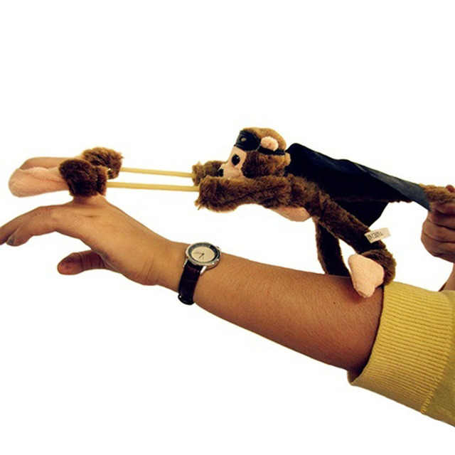 25 cm חדש מצחיק צעצועי כפה יפה חידוש מעופף קוף Screaming הקלע בפלאש צעצועי ילדים מתנה-17 BM88