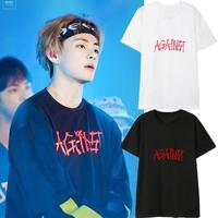 Kpop Home BTS Bangtan Boys V The Same Concert Loose Colorful Couple Summer Short Sleeve Tshirt