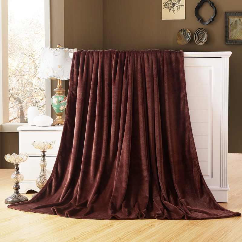 Cammitever Soft Flannel Plain Bedspread