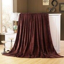 CAMMITEVER High Quality Super Soft Flannel Plain Bedspread Blanket Throws Fleece Manta Coberto For Sofa/Bed/Car/Office