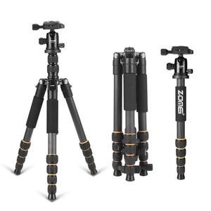 Image 1 - Professional Q666C portable travel carbon fiber tripod Monopod&Ball head for DSLR SLR digital camera