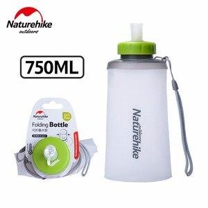 Image 2 - 500ml 750ml Naturehike Ultralight Outdoor Camping Drinkware Sport Water Bag Portable Hiking Bottle Foldable Drink Straw Kettle