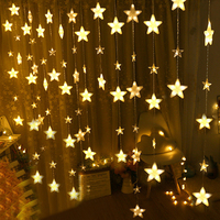 Thrisdar 4M 252 Full Star Icicle Christmas LED String Fairy Light 8 Mode Outdoor Wedding Holiday Fairy Star Icicle Curtain Light
