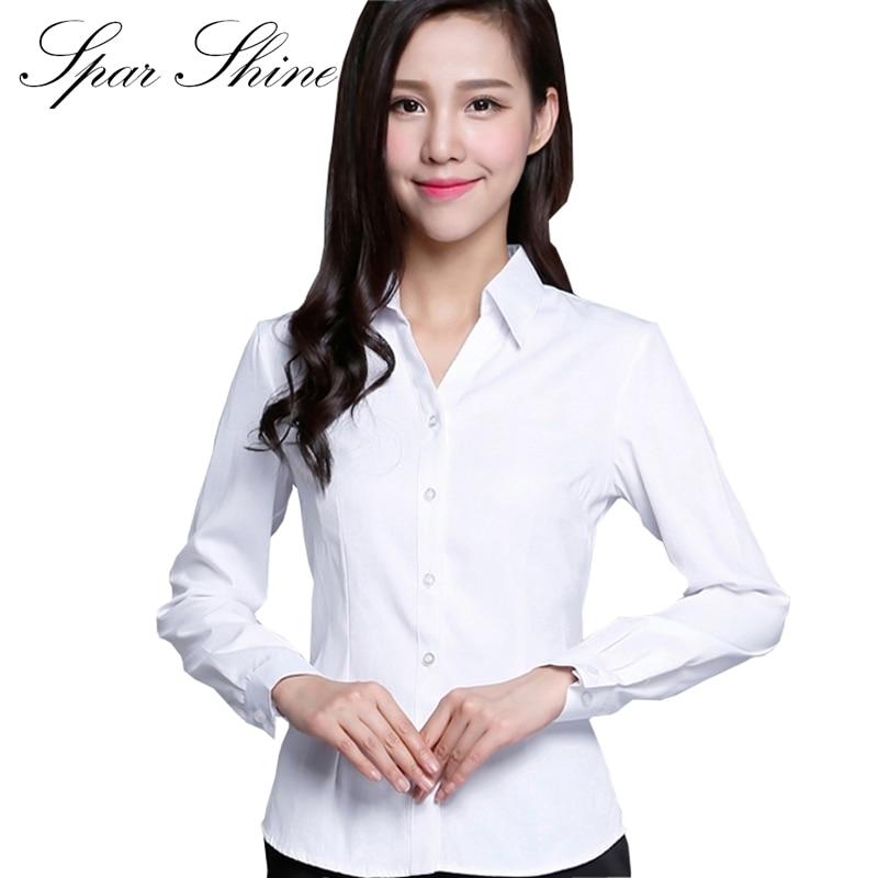 Online Shop SPARSHINE Women's Long Sleeved Blouses V-Neck Pure ...