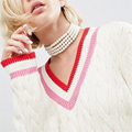 Handmade Multilayer Statement Pearls Chocker Collar Necklace For Women Body Jewelry Wedding Party Vintage Accessories Wholesale
