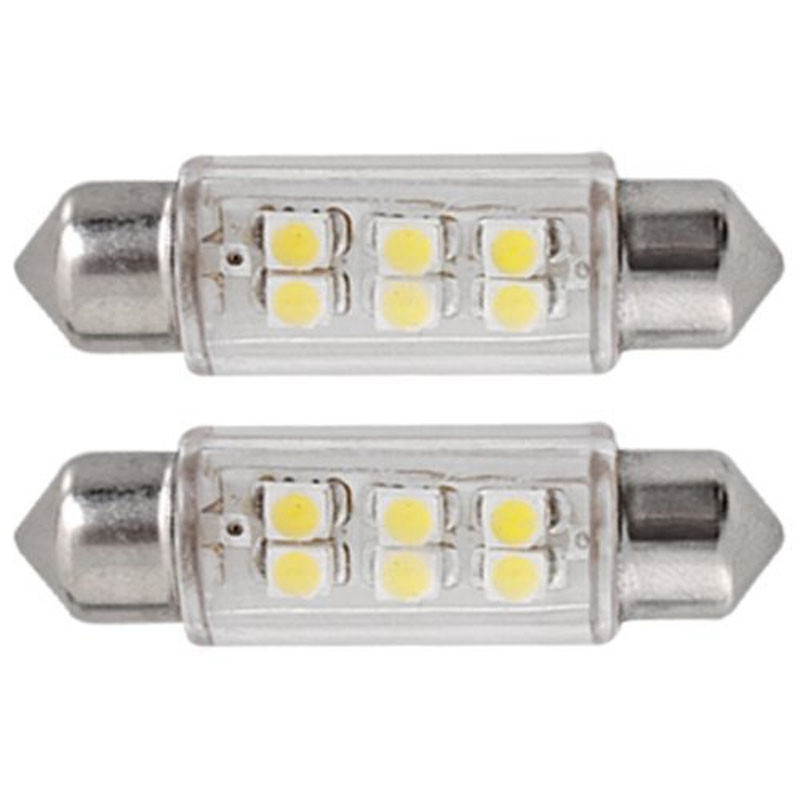 Fits Audi A1 8X 2.0 TFSi White 6-SMD LED 39mm Festoon Number Plate Light Bulb