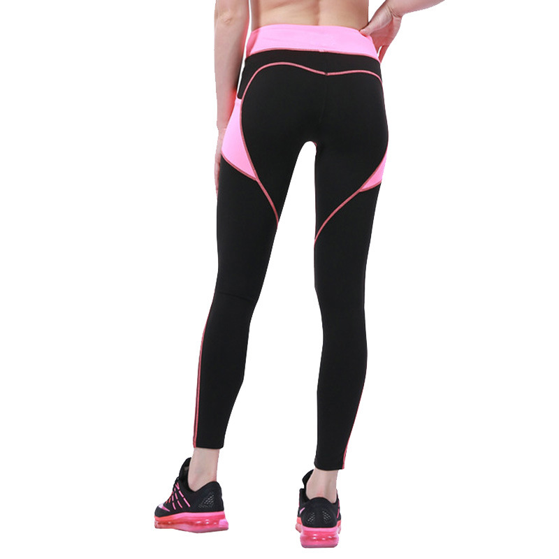 Heart Booty Pattern Sexy Women Yoga Pants Workout Clothing Running -7725