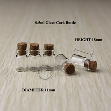 500pcs x 0.5ml Mini Glass Vials Small Bottles With Cork/Stoppers Wishing Bottle Decorative Corked Glass Bottle For Pendants