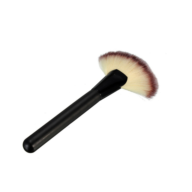 1PCS Women Pro Large Fan Goat Hair Blush Face Powder Foundation Cosmetic Makeup Brush Tools Makeup Brushes