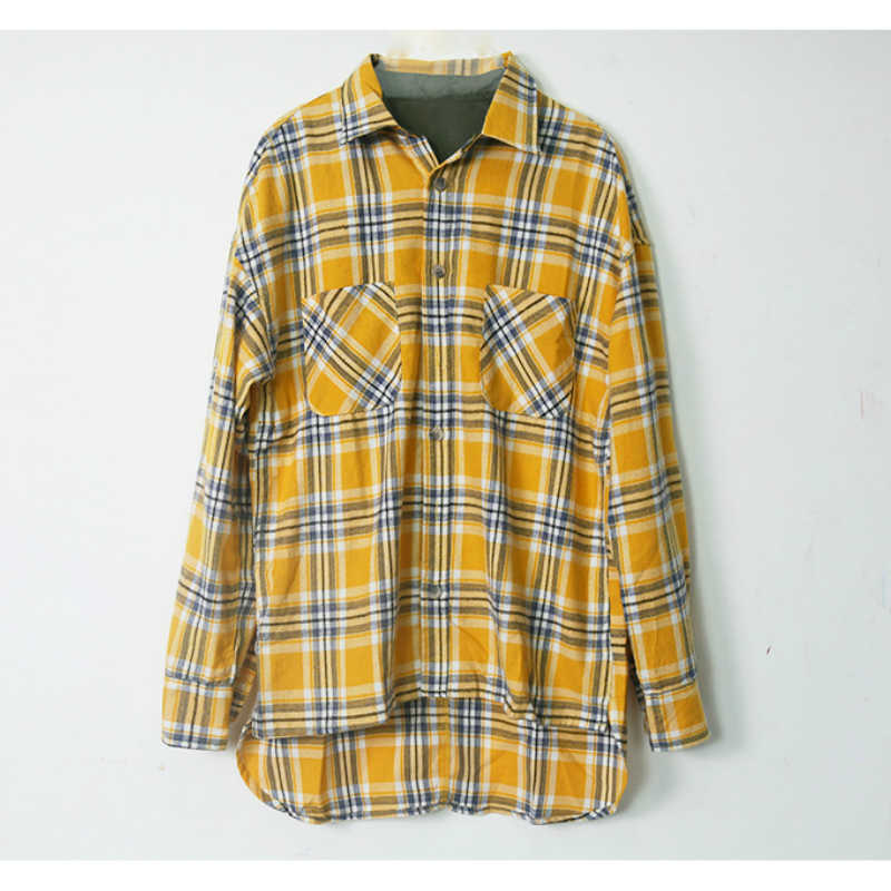a2c063af4c Detail Feedback Questions about Autumn Long Sleeve Plaid Flannel Shirt Hip  Hop Cropped Fit Patched Pockets Checkered Shirts Free Shipping on  Aliexpress.com ...