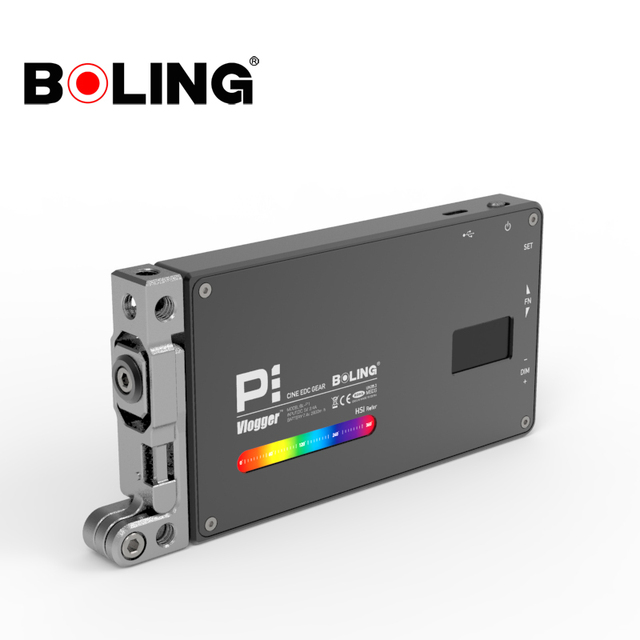 Boling BL P1 12W Photography Lighting with RGB Full Color Dimmable 2500K 8500K for DSLR Camera Studio Vlogging LED Light