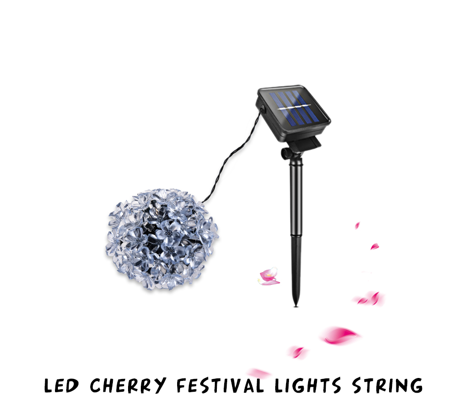 Solar String Lights 3050 LED Garland Outdoor Flower LED String Fairy Christmas Tree Light Party Wedding New Year Decoration (2)