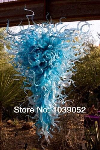 free shipping modern italian long blown glass blue crystal chandelierchina mainland chandelier modern italy blown glass