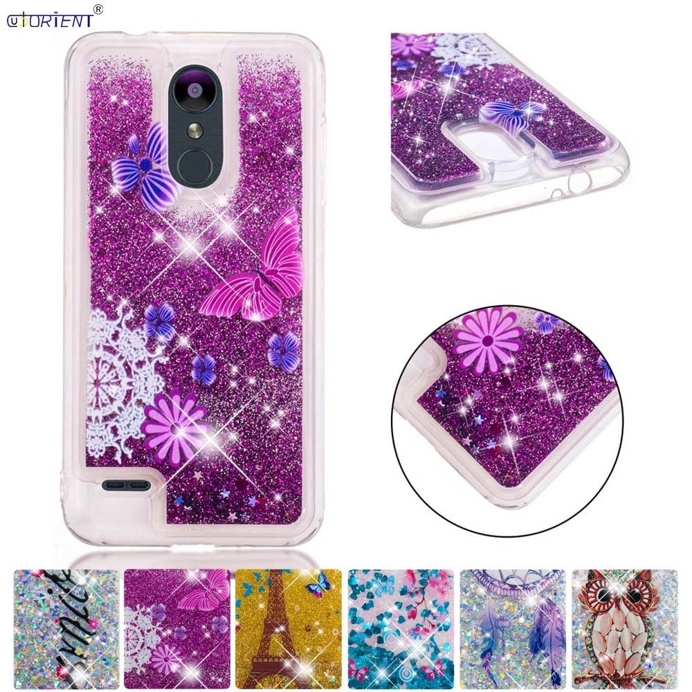 Lower Price with Bling Fitted Case For Lg K9 Glitter Stars Dynamic Liquid Quicksand Tpu Cover Lgk9 Lmx210nmw Soft Silicone Case Phone Back Funda To Have Both The Quality Of Tenacity And Hardness Cellphones & Telecommunications Half-wrapped Case