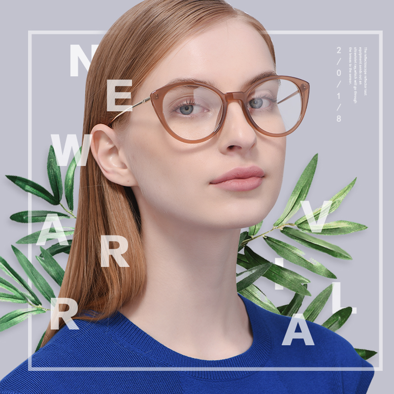 c7ab3715c0f Brand design fashion retro women cat eye eyeglasses frame reading plain  glasses frame optical clear lens eyewear af9201