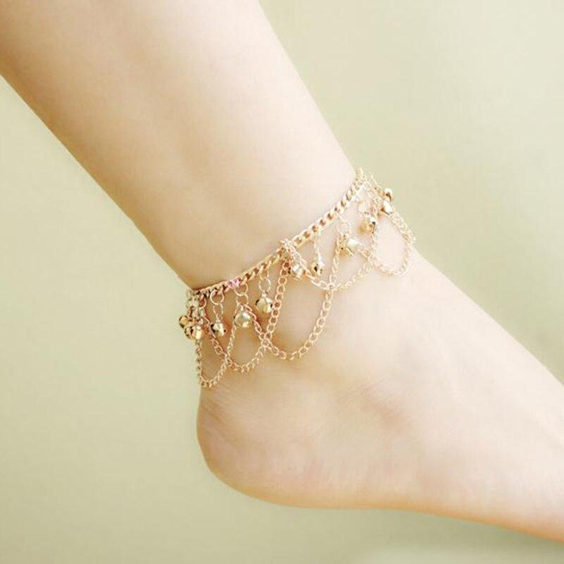 Brand New Tassel Anklet 2016 New Ankle Bracelet Pulseras Tobilleras Gold Anklets For Women Summer font