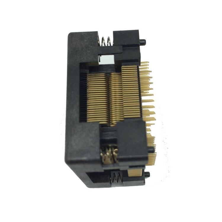 Image 2 - Tqfp100 fqfp100 lqfp100 soquete superior aberto OTQ 100 0.5 09  pinos passo 0.5mm ic tamanho do corpo 14x14mm queimar no adaptador de  testeburn
