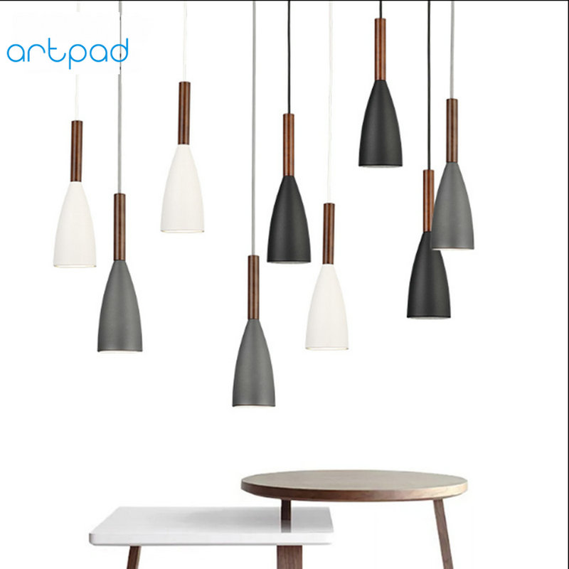 Artpad Nordic Modern Pendant Lamp 1 or 3 Heads LED Retro Vintage Pendant Lights for Dining Room Hotel Living Room Restaurant E27 new arrival vintage pendant lamp modern retro industrial pendant lights for restaurant bar living room bedroom 220v e27 holder