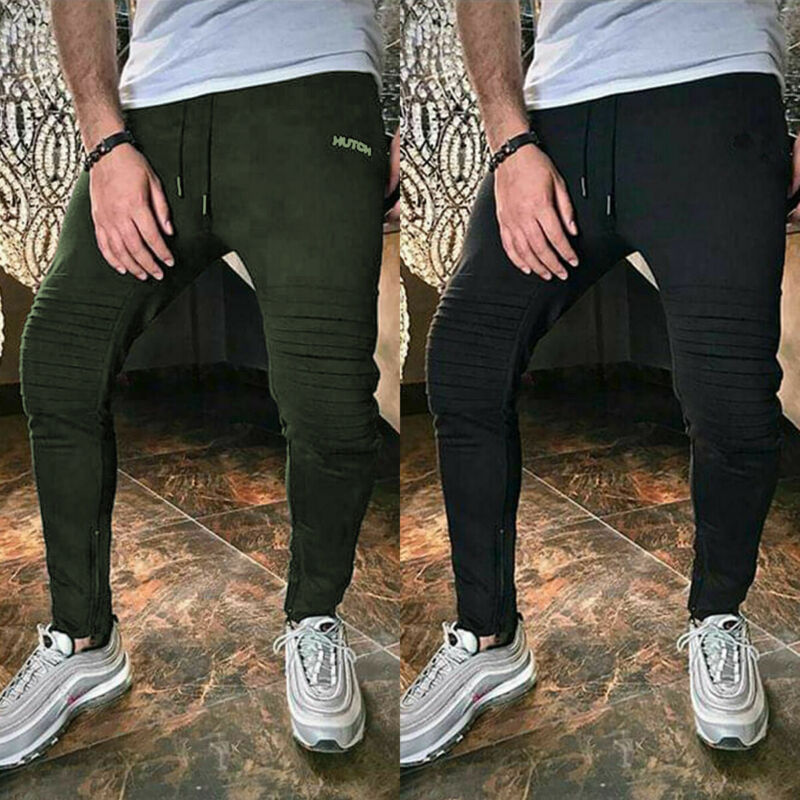 2019 Newest Fashion Men's Casual Slim Fit Sport Twill Pants Solid Running Joggers Gym Sweatpants Hot Sale Trousers
