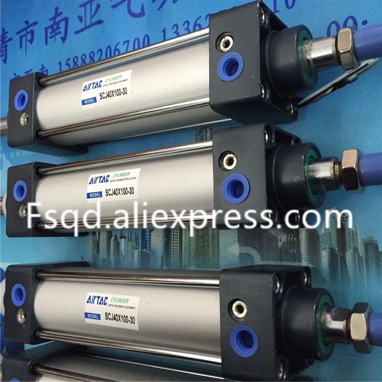 SCJ40X100-30 AIRTAC Standard cylinder air cylinder pneumatic component air tools SC series su50 320 s su50 350 s airtac thin three axis cylinder with rod air cylinder pneumatic component air tools