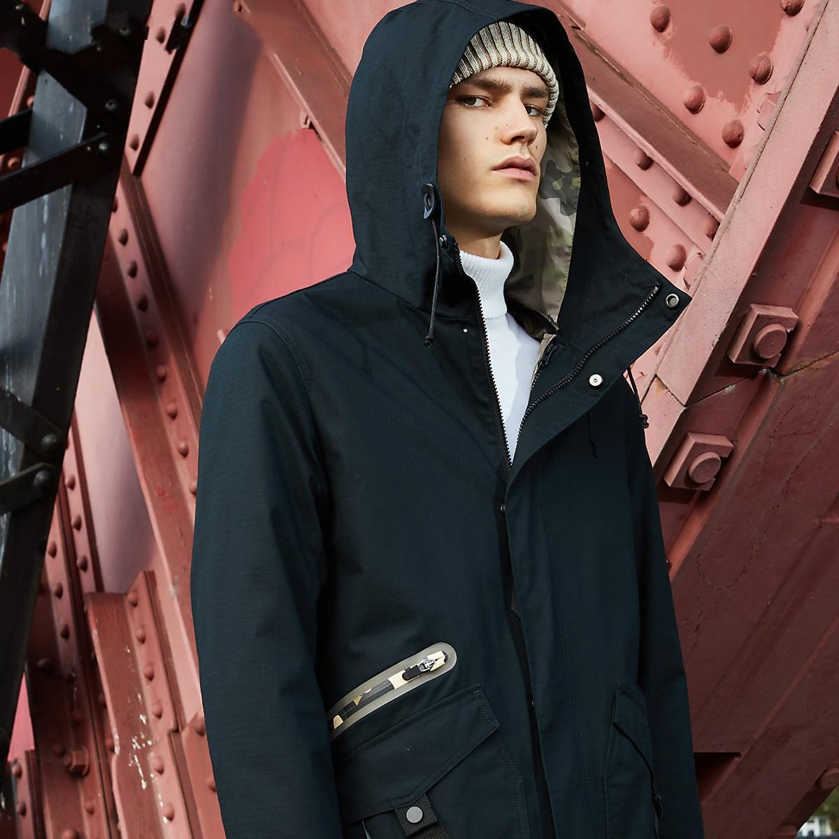 Spring  JackJones Men's Camouflage Coat Parkas Jacket College  Men's Trench Coat Luxury Pilot Menswear(China)