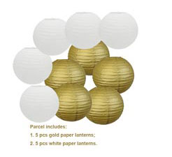 "20 pcs 6""-12"" White Paper Lanterns Chinese Japanese Paper Lanterns for Wedding Party Halloween Hanging Diy Decor Favor 15"