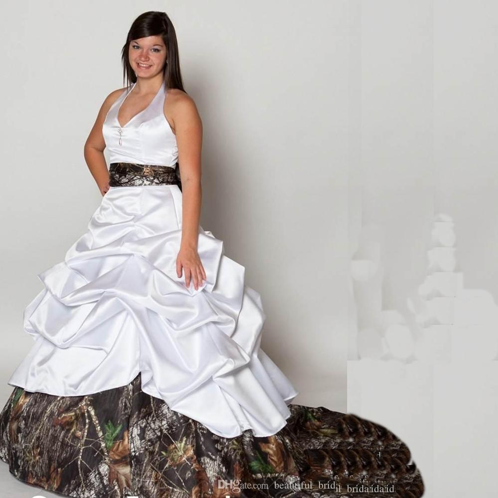 Camouflage Wedding Gowns: New Camo Wedding Dresses With Beaded Plus Size Camouflage