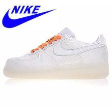 5e2f0fdf Nike X CLOT Air Force 1 Premium Мужская обувь для скейтбординга, белая,  амортизирующая дышащая Нескользящая, износостойкая AO928.