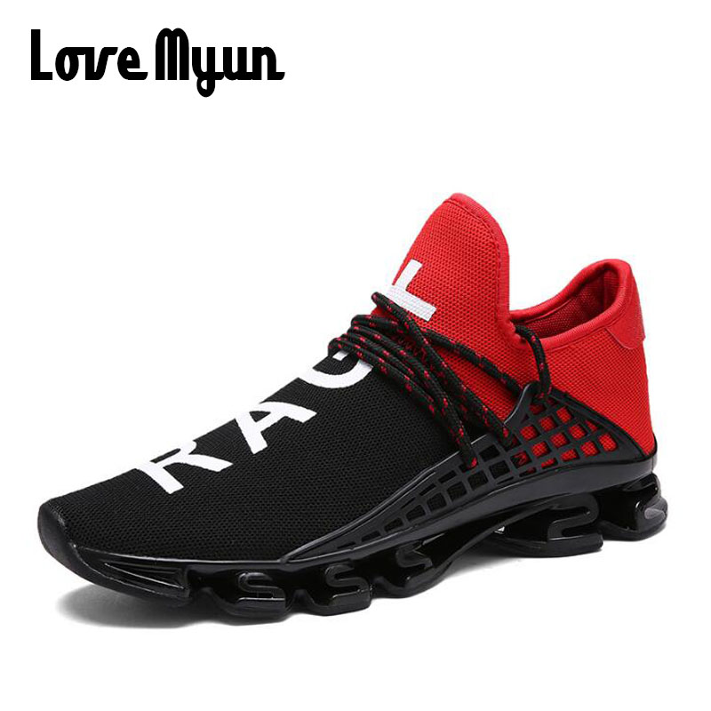 Men luxury brand Sneakers male Letter  High Quality Men Breathable - Men's Shoes