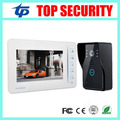 Top security village 7 inch color video door phone door bell intercom system with 4 channel camera input touch video door phone