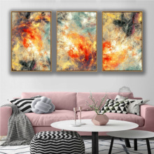 Abstract Art 3 Pieces Canvas Paintings Modular Pictures Wall for Living Room Framework Decoration No Framed