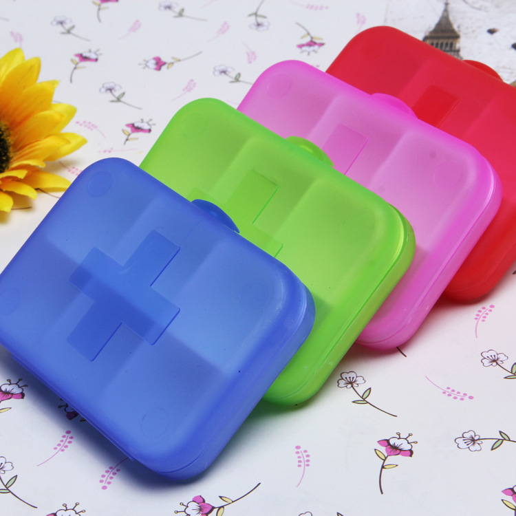 Pill cases 6 Cells Mini Pill Storage Box Plastic Cases for Medicine Drug Jewelry Organizers Medication pill box