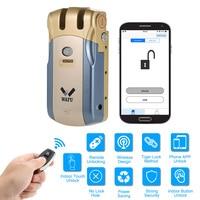 Wafu WF-010U de segurança sem fio invisível keyless porta entrada inteligente bloqueio ios android app desbloquear com 4 teclas remotas