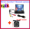 Auto Parking Camera Monitors System, IR Night Vision Rear View HD LED Camera With 3.5 inch fold LCD Car Monitor 2ch av in
