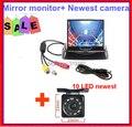 Câmera Auto estacionamento monitores sistema, Noite IR visão traseira HD LED LCD Monitor com 3.5 polegada vezes 2ch av em