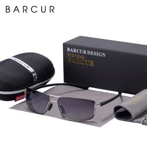 Image 2 - BARCUR Cutom Sunglasses Men Driving Shades Male Sun Glasses For Men Oculos de sol