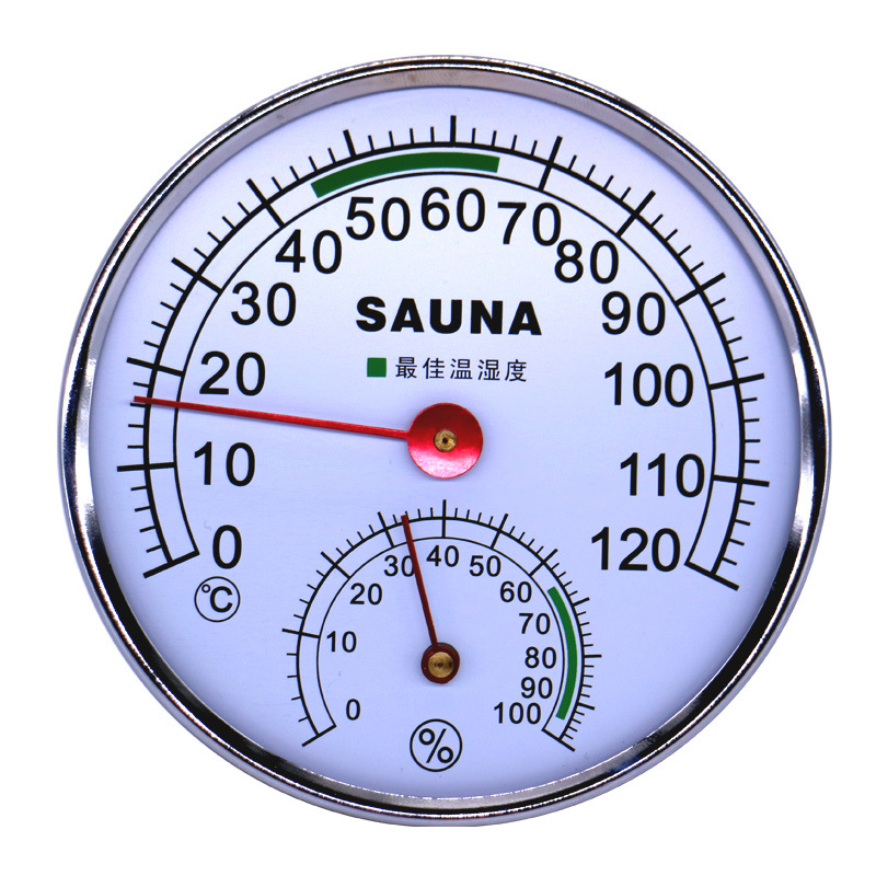 Thermometer Hygrometer thermograph humidity meter hydrothermograph weather station for Sauna room inductive pointer 0C-120C