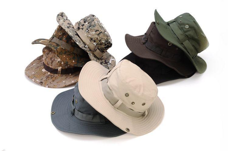 100pcs/pack Classic US Army Gi Style Boonie Jungle Hat Ripstop Cotton Combat Bush Sun Cap
