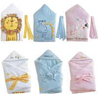 เย็บปักถักร้อย Baby Swaddle ผ้าห่มเด็กหนา Warm Berber Fleece ซองจดหมายสำหรับทารกแรกเกิดเด็กทารกเด็กเครื่องนอน Sleeping 85x85 เซนติเมตร