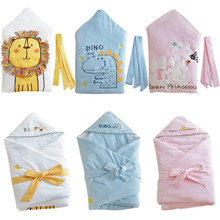 Embroidery Baby Swaddle Baby Blanket Thick Warm Berber Fleece Envelopes For Newb
