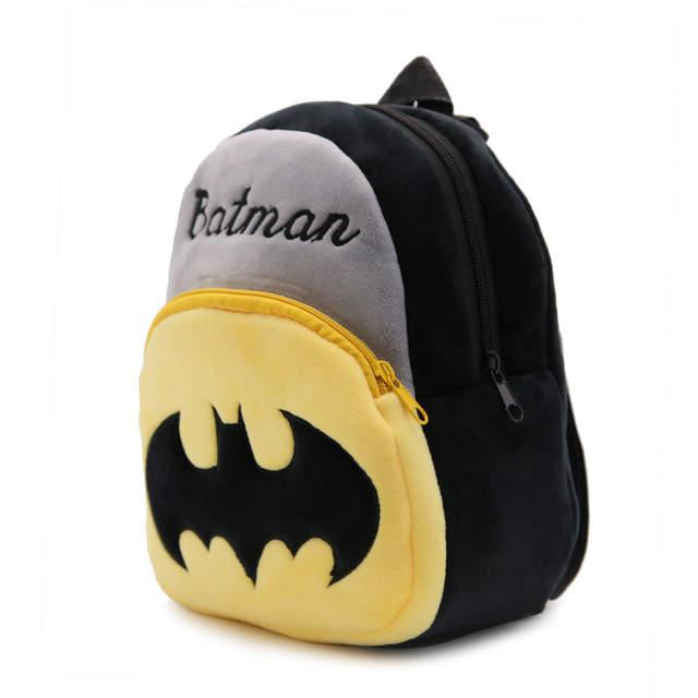 23 21 9cm Cartoon Small Plush Doll Backpacks Batman Children School Bags  Cool Food 83dbd724e9197