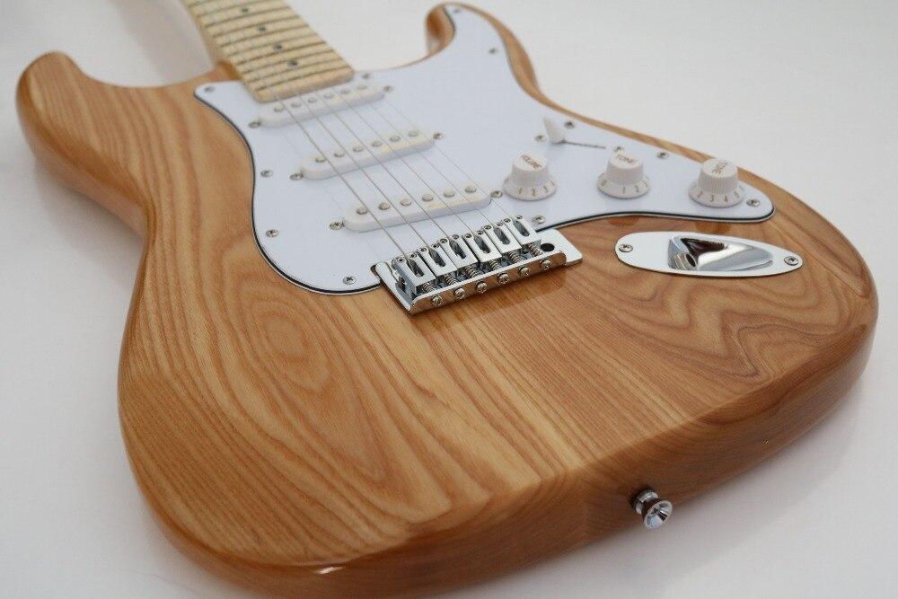 Guitare électrique en bois gris naturel, 3 micros, quincaillerie en alliage de chrome, sur mesure, livraison gratuite