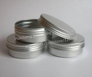 Image 2 - 100 x ריק 60g אלומיניום צנצנת מתכת צנצנת קרם אבקת ג ל שימוש 2 oz בקבוקים קוסמטיים, 60ml אלומיניום מיכל