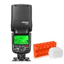 Voking vk800 i ttl 외부 카메라 플래시 슬레이브 speedlite 니콘 디지털 slr 카메라 + 선물
