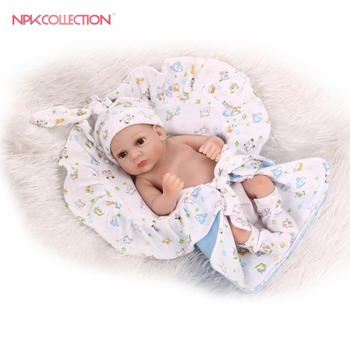 premie newborn cute small 12inch 25CM soft silicone vinyl real soft gentle touch reborn baby doll Christmas gift for children