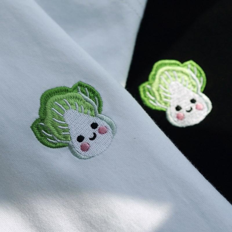 Small Fresh Clover V-Neck Tee Short Sleeve Womens